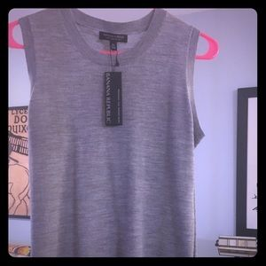 BR 100% Merino Wool Shell - Heather Gray XS